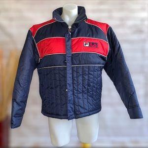 "FILA Puffer Coat Jacket ""FILA Spell Out On Back"""